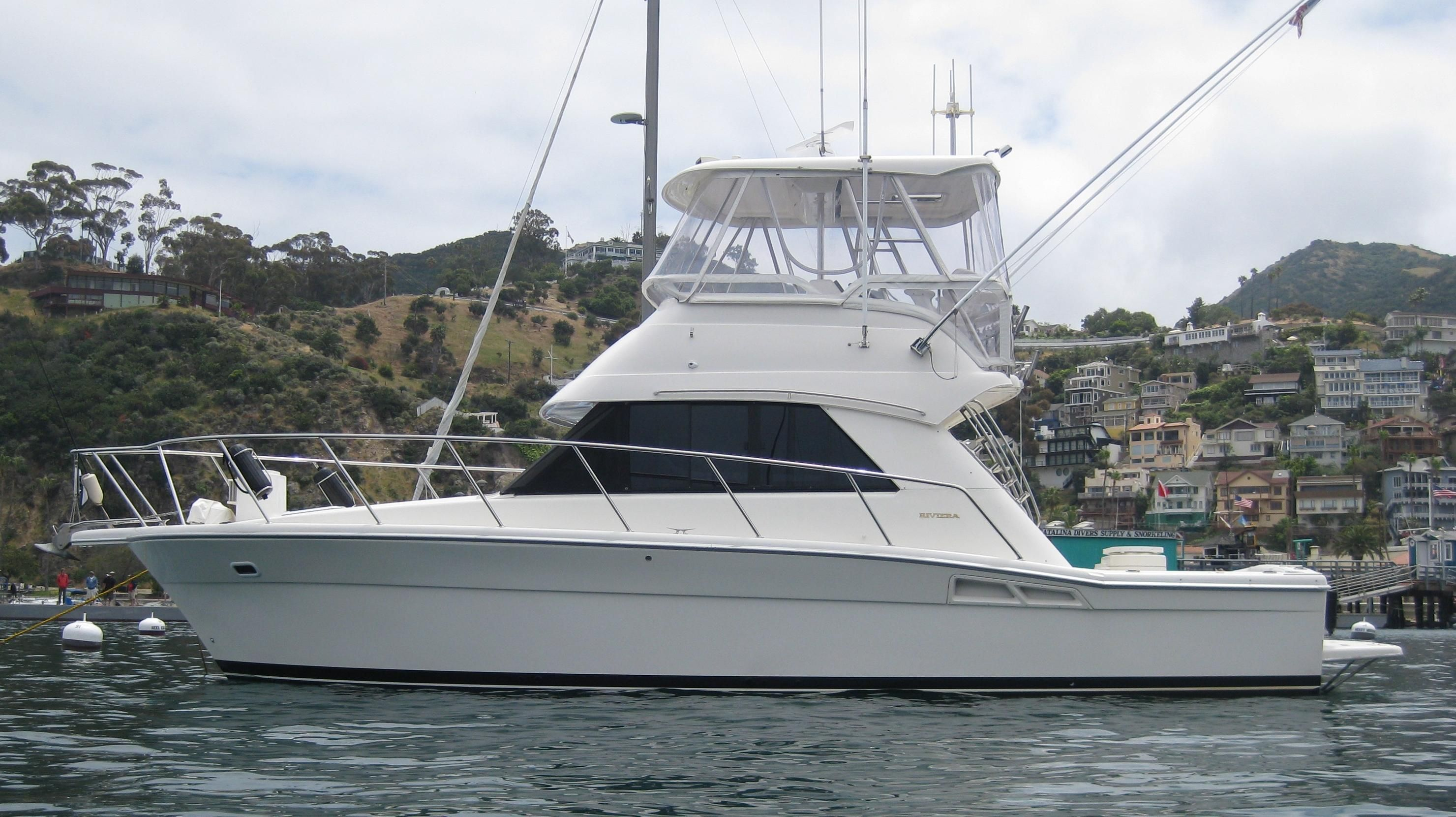 Photo of our 36' Riviera Tournament Edition Sportfisher